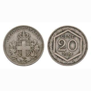 Italien  20 Centesimi 1919 R