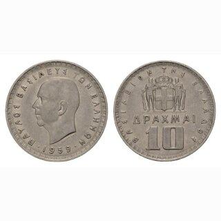 Griechenland 10 Drachmen 1959 Paul I