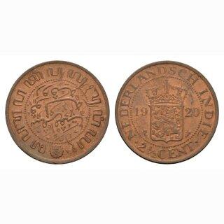 Niederland Indien 2 1/2 Cents 1920 Wilhelmina I