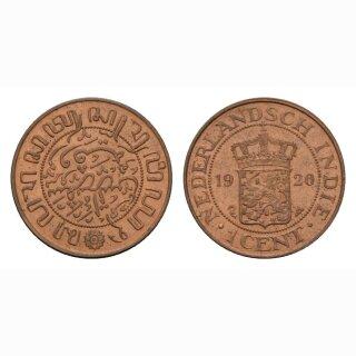 Niederland Indien 1 Cent 1920 Wilhelmina I