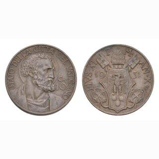 Vatikan 10 Centesimi 1931 /X St. Peter