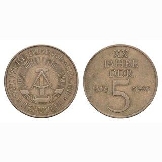 DDR 5 Mark  1969 XX Jahre DDR