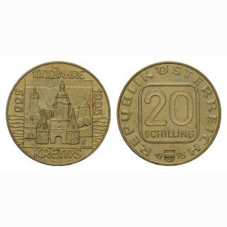 Österreich 20 Schilling 1995 100 Jahre Krems
