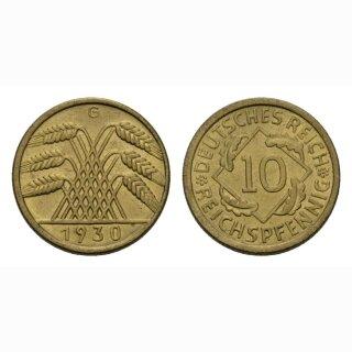 Deutschland 10 Reichspfennig 1930 A Weimarer Republik