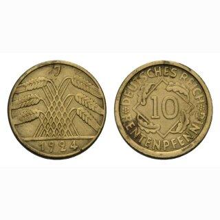 Deutschland 10 Reichspfennig 1924 J
