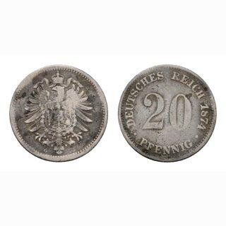 Deutschland 20 Pfennig 1874 G Kleiner Adler