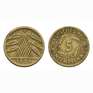 Deutschland 5 Rentenpfennig 1924 F Weimarer Republik