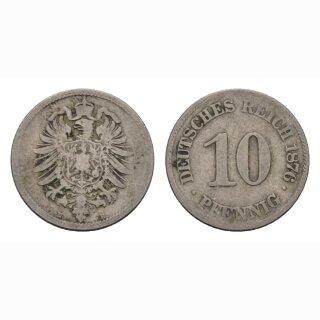 Deutschland 10 Pfennig 1876 E