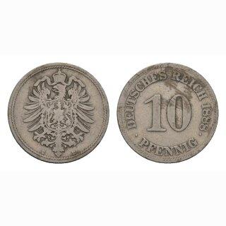 Deutschland 10 Pfennig 1888E