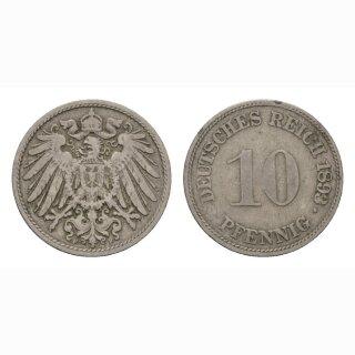 Deutschland 10 Pfennig 1893 F