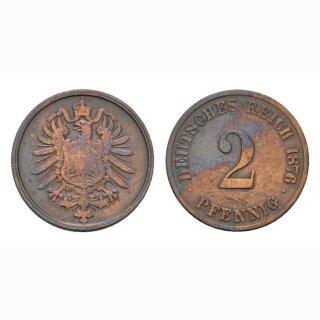 Deutschland 2 Pfennig 1876 G