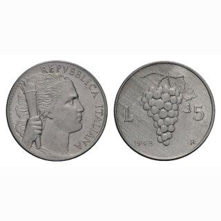 Italien 5 Lire  1948 R