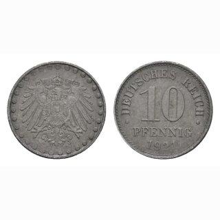 Deutschland 10 Pfennig 1921 A