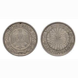 Detuschland 50 Reichspfennig 1929 A Weimarer Republik