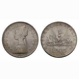 Italien 500 Lire  1958 R Kolumbus