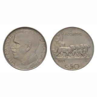 Italien 50 Centesimi 1921 R Vittorio Emanuele III