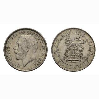 England  6 Pence 1923
