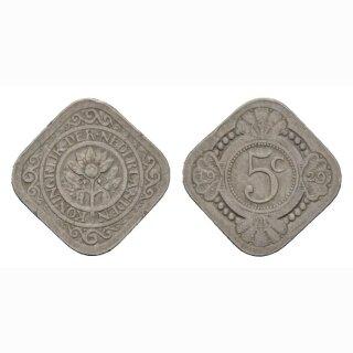 Niederland 5 Cents 1929 Wilhelmia I