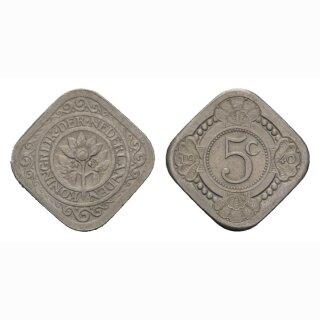 Niederland 5 Cents 1940 Wilhelmia I