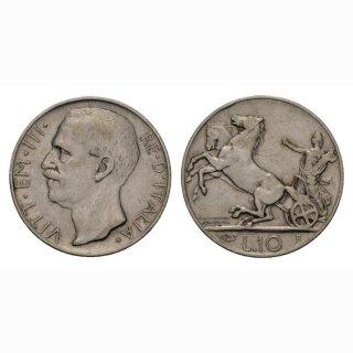 Italien 10 Lire 1927 R Vittorio Emanuele III