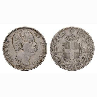 Italien 2 Lire 1884 R Umberto I