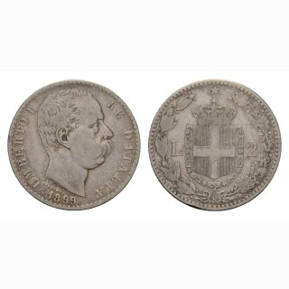 Italien 2 Lire 1899 R Umberto I