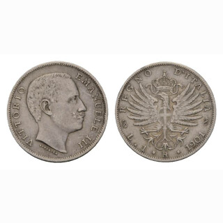 Italien 1 Lire  1901 R Vittorio Emanuele III