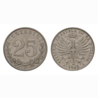 Italien 25 Centesimi 1902 R