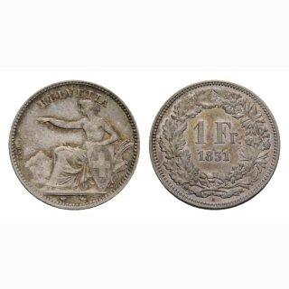 Schweiz 1 Franken 1851 A Sitzende Helvetia