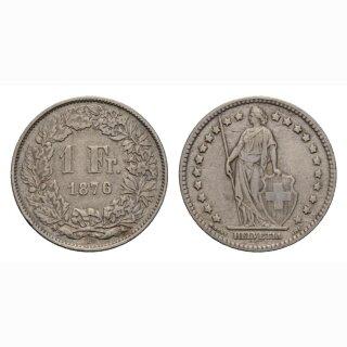 Schweiz 1 Franken 1876 B Stehende Helvetia