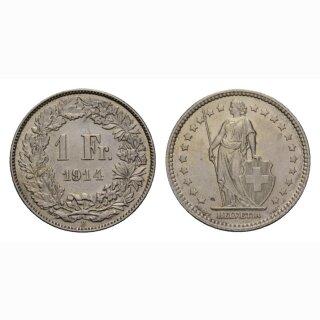 Schweiz 1 Franken 1914 B