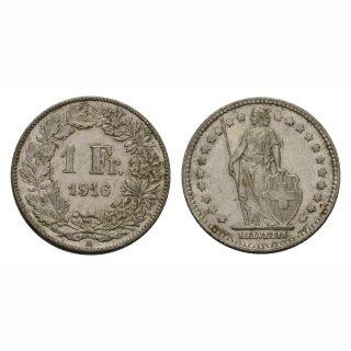 Schweiz 1 Franken 1916 B