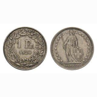Schweiz 1 Franken 1920 B