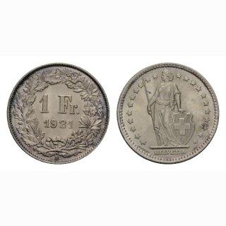 Schweiz 1 Franken 1921 B
