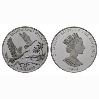 1994 Bahamas 5 Dollars Ente