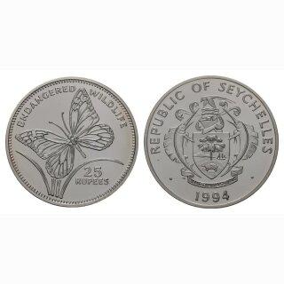 1994 Republik Seychelles 25 Rupees Schmetterling