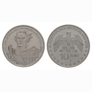 Deutschland 10 Euro 2003 J 200. Jahre Justus von Liebig