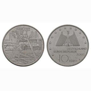 Deutschland 10 Euro 2003 F Industreilandschaft Ruhrgebiet