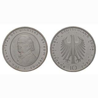 Deutschland 10 Euro 2004 F 200 Jahre Eduard Mörike
