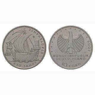 Deutschland 10 Euro 2006 J 650 Jahre Städtehanse