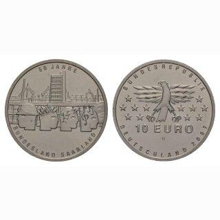 Deutschland 10 Euro 2007 G 50 Jahre Bundesland Saarland