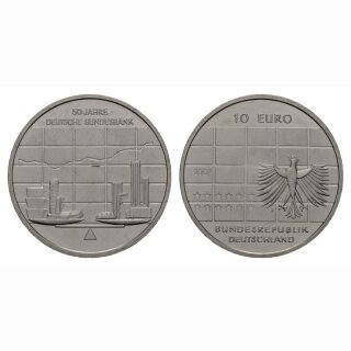 Deutschland 10 Euro 2007 J 50 Jahre Deutsche Bundesbank
