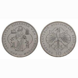 Deutschland 10 Euro 2007 A 800 Jahre Heilige Elisabeth von Thüringen