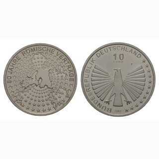 Deutschland 10 Euro 2007 F 50 Jahre Römische Verträge