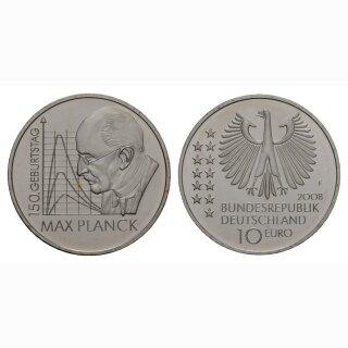 Deutschland 10 Euro 2008 F 150 Jahre Max Planck