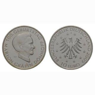 Deutschland 10 Euro 2009 J 100 Jahre Marion Gräfin Dönhoff