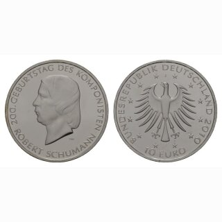 Deutschland 10 Euro 2010 J 200 Jahre Robert Schumann