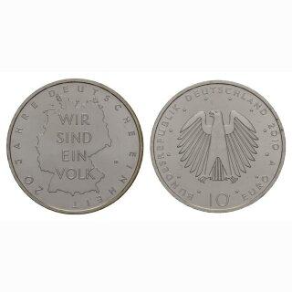 Deutschland 10 Euro 2010 A 20 Jahre Deutsche Einheit