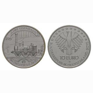 Deutschland 10 Euro 2010 D 175 Jahre Eisenbahn in Deutschland