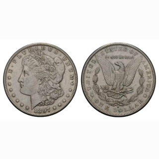 USA 1 Dollar 1 $ 1897 S Morgan Dollar